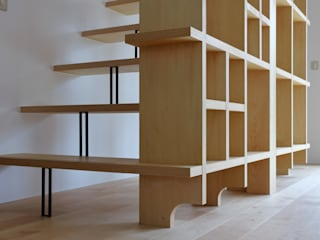 池田久司建築設計事務所 Escalier Bois Effet bois