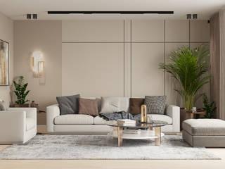 Студия дизайна ROMANIUK DESIGN Salones de estilo escandinavo