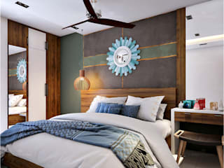 Monnaie Interiors Pvt Ltd ห้องนอนของแต่งห้องนอนและอุปกรณ์จิปาถะ ไม้ Wood effect