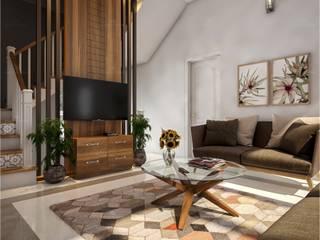 Monnaie Interiors Pvt Ltd SalonAccessoires & décorations Bois Effet bois