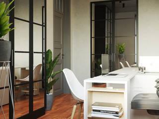 Студия дизайна ROMANIUK DESIGN Industrial style study/office