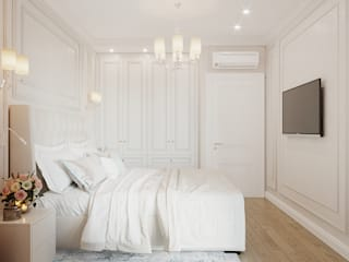 Студия дизайна ROMANIUK DESIGN Dormitorios de estilo minimalista