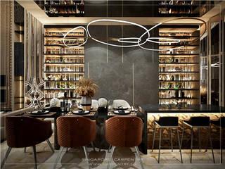 Combining Modernity & Luxury Design Singapore Carpentry Interior Design Pte Ltd Modern dining room Stone Grey