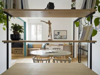 llabb architettura Modern corridor, hallway & stairs