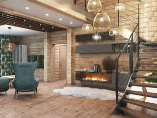 Студия дизайна интерьера 'Золотое сечение' Living room Wood Green