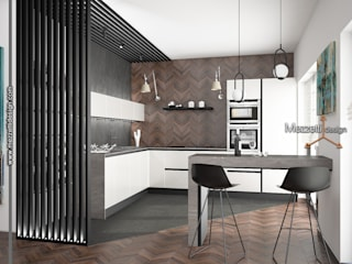 Mezzettidesign 置入式廚房 木頭 White