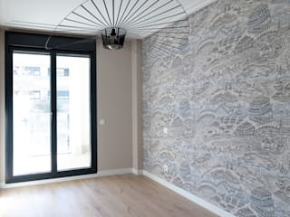 Decoración de Interiores. Vivienda familiar de obra nueva en Alcobendas POMO. Home Staging & Design Studio Dormitorios de estilo asiático