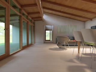 Roberto Martinez Bravari -arquitectos asociados Country style dining room Wood Wood effect