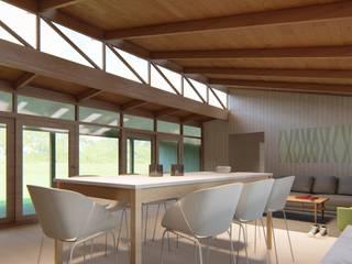 Roberto Martinez Bravari -arquitectos asociados Living room Wood Wood effect