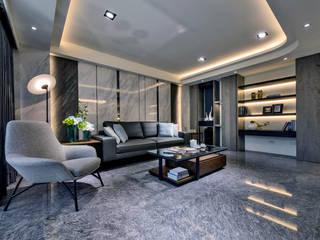 嘉義實品屋 大也設計工程有限公司 Dal DesignGroup 现代客厅設計點子、靈感 & 圖片