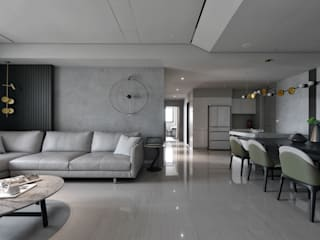 沐影 仝育室內裝修設計有限公司 现代客厅設計點子、靈感 & 圖片