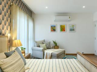Saloni Narayankar Interiors ห้องนอนเตียงนอนและหัวเตียง