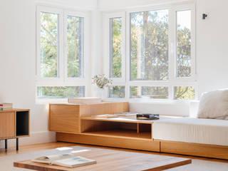 Boa Safra ห้องนั่งเล่นโต๊ะกลางและโซฟา ไม้จริง