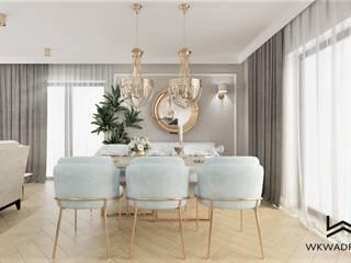Wkwadrat Architekt Wnętrz Toruń Classic style dining room Wood Blue
