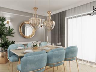 Wkwadrat Architekt Wnętrz Toruń Classic style dining room Wood Wood effect