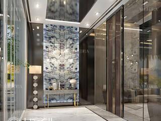 Algedra Interior Design الممر الحديث، المدخل و الدرج