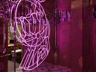 RAF ROOM studio Bars & clubs modernes Verre Violet