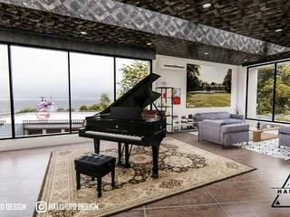 desain arsitek depok Daniya Architect Ruang Keluarga Gaya Mediteran