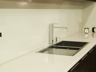 Granitrans Dapur Modern Kuarsa White