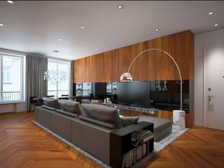 Arch+ Studio Гостиная в стиле модерн
