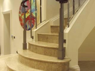 Elementi per Villa privata a Londra Arte 2000 Ingresso, Corridoio & ScaleScale Marmo Beige