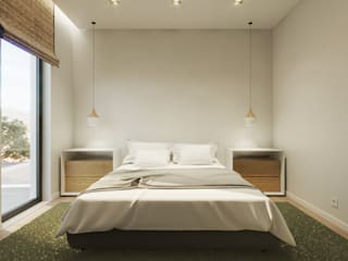 Êxodo Construções e Engenharia Modern style bedroom