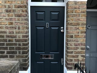 Doors portfolio Repair A Sash Ltd Front doors Wood Grey