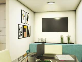 REMODELACION APARTAMENTO 60M2 KENNEDY (BOGOTÁ) Plano 13 Salas de estilo minimalista Compuestos de madera y plástico Beige