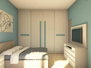 Camera da letto completa su misura Falegnamerie Design Camera da letto moderna Legno Beige