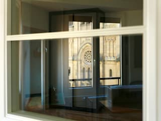 de Biteri. Reforma de vivienda en Donostia Bitarte arquitectura & interiorismo Estudios y despachos de estilo moderno Vidrio Transparente
