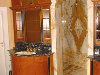 Villa Privata in Germania Arte 2000 Bagno in stile rustico Marmo Nero