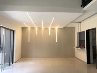 EA ARCHITECTURE & FURNITURE Minimalist dining room Concrete