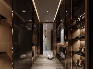 Rebora Arquitectos Modern dressing room Wood Black