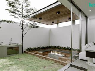 Rebora Arquitectos Modern garden Wood White