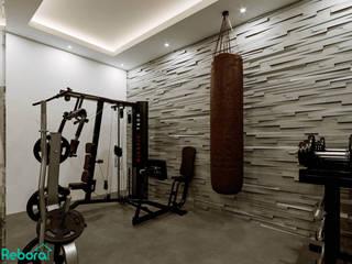 Rebora Arquitectos Modern gym Stone Grey