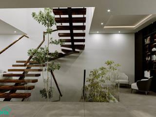 Rebora Arquitectos Stairs Wood White