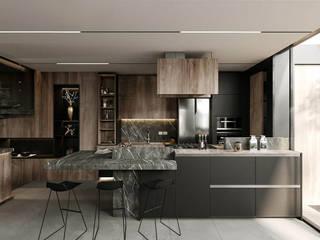 Rebora Arquitectos Built-in kitchens Ceramic Black