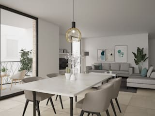 "Edificio "" Sa Fàbrica"" CM ARQUITECTURA Comedores de estilo minimalista"