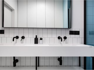 Umywalki na wymiar z miejscem odstawczym Luxum ŁazienkaUmywalki Biały