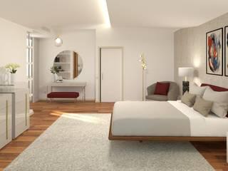Ginkgo Design Studio Small bedroom Wood Grey