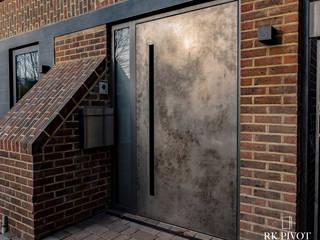 RK Exclusive Doors pintu depan Aluminium/Seng Amber/Gold