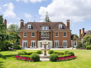 Villa nella Campagna Inglese Arte 2000 Case classiche Pietra Rosso