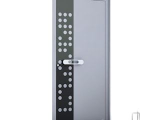 RK Exclusive Doors pintu depan Aluminium/Seng Metallic/Silver