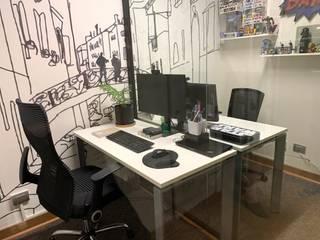 Home Office - Escritorios en Sala de Estar Kaa Interior | Arquitectura de Interior | Santiago Oficinas y bibliotecas de estilo moderno
