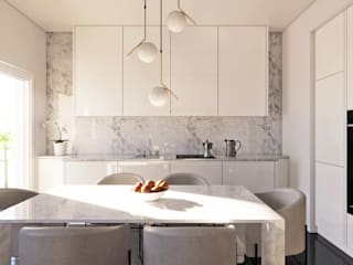 Daniele Alabrese Architetto Modern dining room Marble White