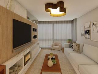 Nesta Espaços Extraordinários Moderne Wohnzimmer