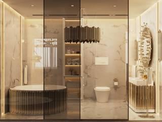 Idee per una casa Mid-Century Essential Home Bagno moderno