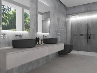 Studio Zay Architecture & Design Modern bathroom Concrete Grey