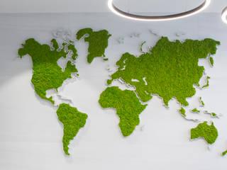 Mapa mundi GREENAREA Paisajismo de interiores