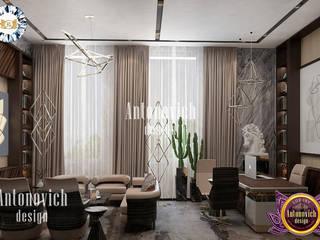 Luxury Antonovich Design Nowoczesne domowe biuro i gabinet